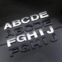 WL Nouveau 45mm Et 25-28mm 3D LETTRES BRICOLAGE Alphabet Emblème Chrome Et noir Autocollant De Voiture Numérique Badge Logo Accessoires Moto