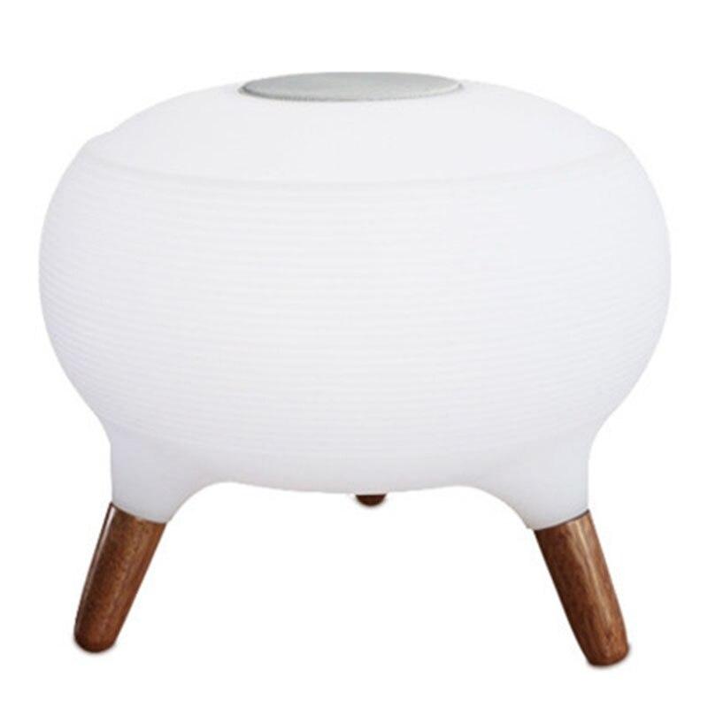 Bluetooth колонки красочный пульт дистанционного управления небольшой Настольный светильник светодиодный ночник зарядка умный дом модная лампа - 5