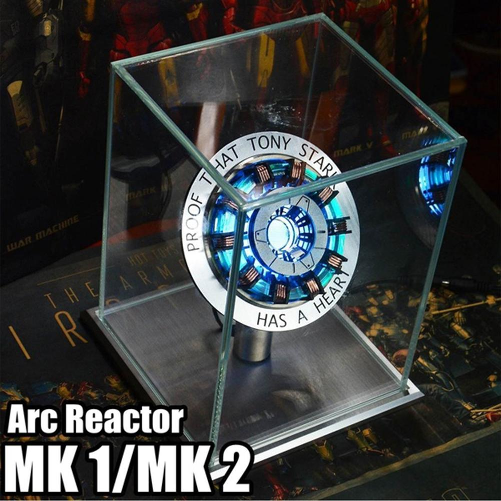 Arc Reactor DIY Model Kit LED Chest USB Light Movie Props Action Figure Toy Interesting Aovie Peripheral Model
