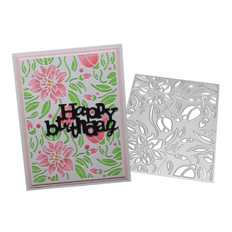 Background Metal Cutting Die Stencil Scrapbooking Album Paper Card Craft DIY