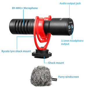 Image 4 - Boya BY MM1 shotgun microfone de vídeo microfone gravação universal microfone para câmera dslr iphone android smartphones mac tablet
