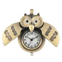 Buy Owl Quartz Pocket Watch Male Metal zakhorloge Necklace Chain Pendant Watches Female Christmas Kids Gift montre gousset homm directly from merchant!