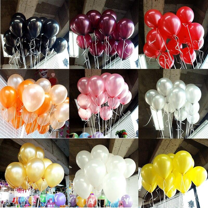 100pcs/50 Pçs/set 2020 balões do aniversário balões De Látex balão de Festa de Casamento Ouro vermelho rosa azul Bola crianças brinquedos Pérola balões de ar