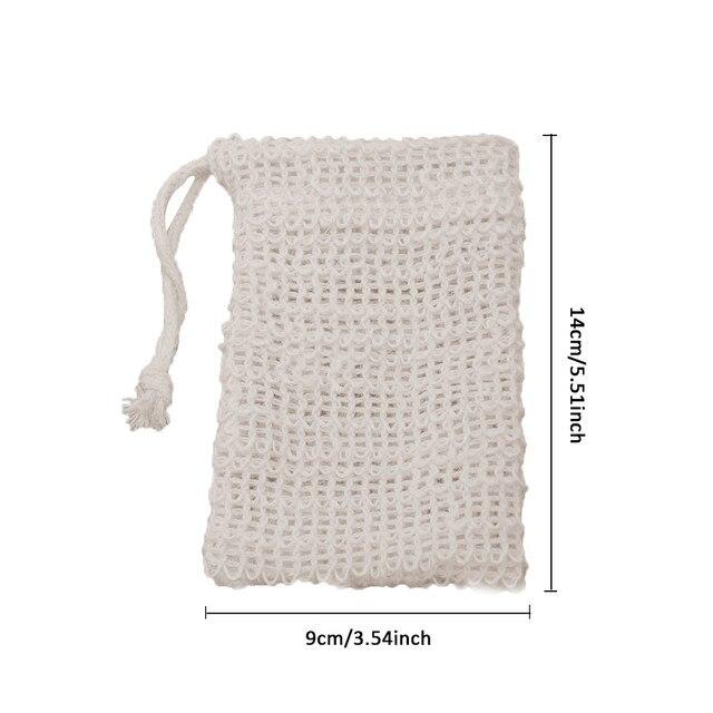 10Pcs/set Exfoliating Soap Bag Cleansers Natural Portable Soap Saver Soft Foaming Massage Bag Cotton Soap Saver Pouch Holder 1