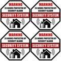 Наклейка на клейкой стороне, наружная/Внутренняя, 24 часа защищенная системой охранной сигнализации