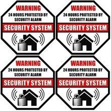 Impresso no lado adesivo, 24 horas exteriores/internas protegidas pelo decalque da etiqueta do sistema de alarme do assaltante da segurança