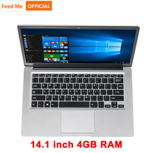14.1 Inch Laptop 4GB RAM 64GB ROM Windows 10 Student Notebook Intel E8000 Quad Core Notebook BT4.0 with HDMI Port