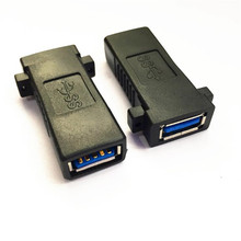 USB 3.0 A female socket panel mount to female Adapter
