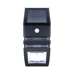 2 светодиодный солнечный светильник движения PIR Сенсор настенный светильник Водонепроницаемый открытый светильник ing серебристый, черный д...