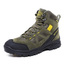 hiking boots  Microfiber Leather Outdoor climbing men snow hiking shoes boots Waterproof Ankle Boots  male comfortable shoe camel outdoor men s hiking shoes slip resistant male breathable comfortable waterproof genuine leather climbing shoe a632302285