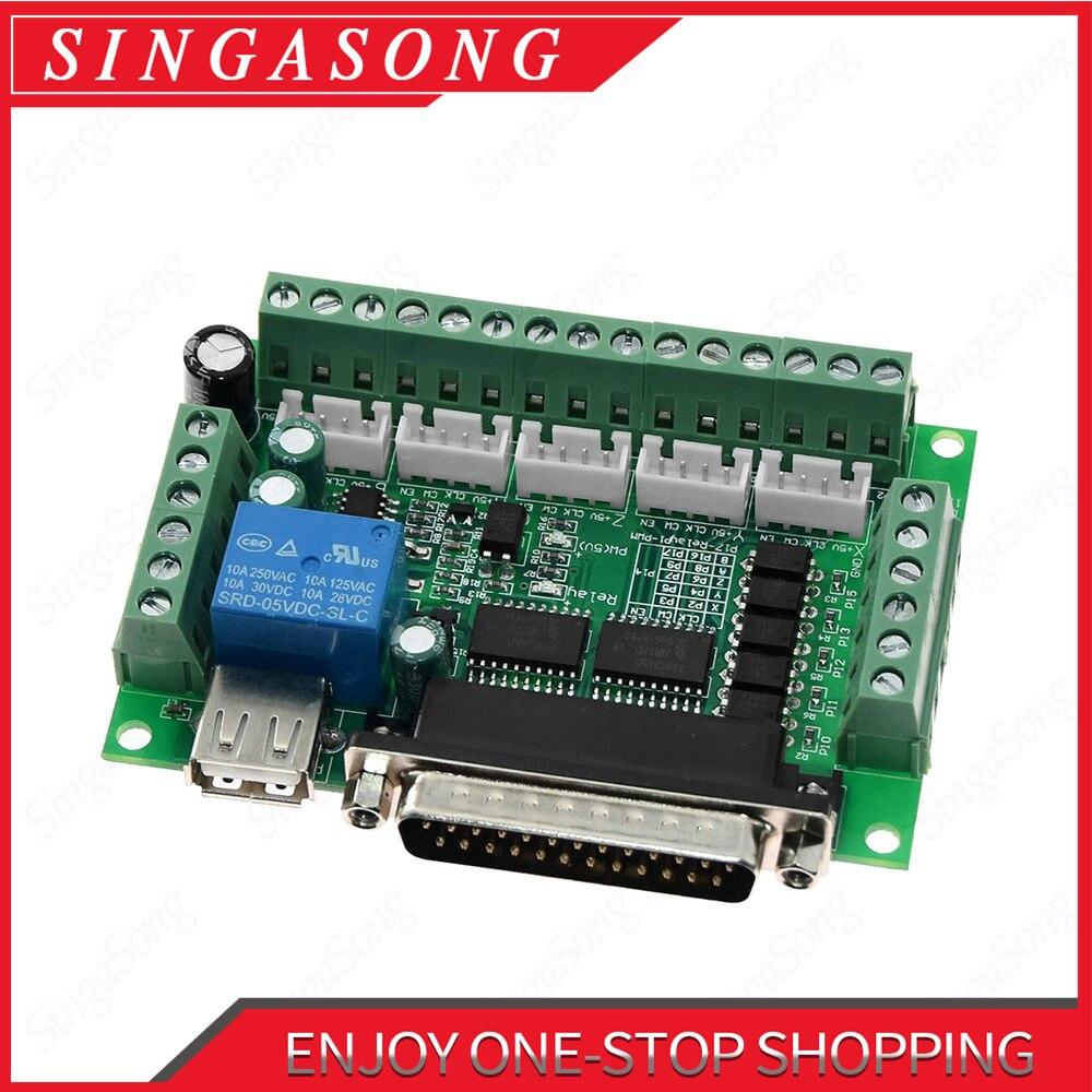 MACH3 гравировальный станок, 5-осевой фрезерный станок с ЧПУ, разделочная плата с оптическим соединителем для шагового двигателя, контроллер п...