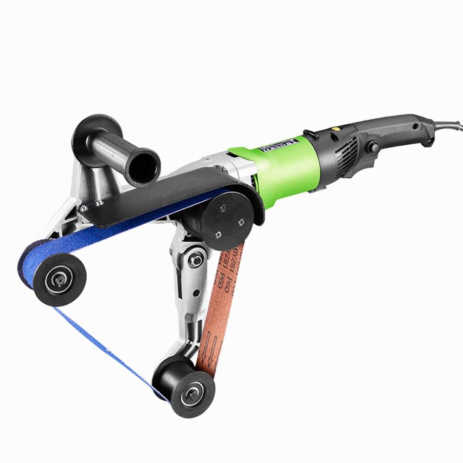 Okrągła rura szlifierka rurka ze stali nierdzewnej szlifierki taśmowe szlifierka polerska przeciągarka do drutu przetwarzania narzędzia do polerowania