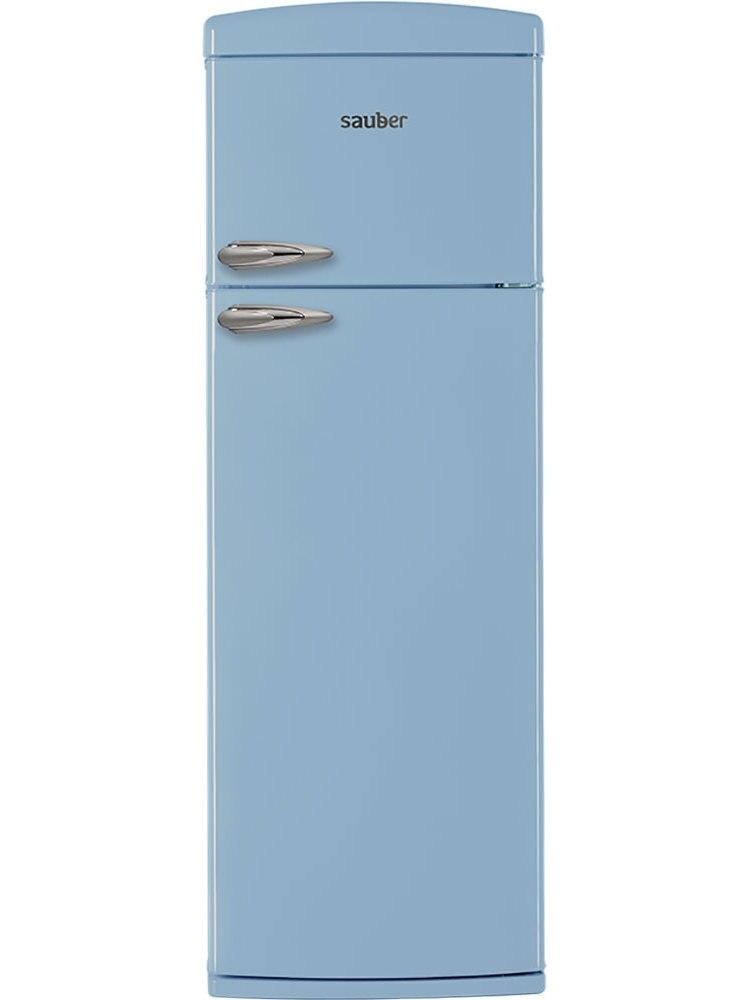 Refrigerator Two Doors Sauber Sfr1750A TO + High 175,5 Cm Width 60,5 Cm Blue