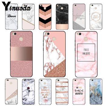 Перейти на Алиэкспресс и купить Yinuoda шикарная розовая Мрамор симпатичный дизайн jpg чехол для телефона для Xiaomi mi5 6 A1 A2 Lite Mi9 9SE mi8lite F1 Mix2 2S Max2 3