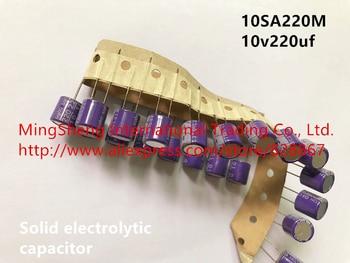 Original nuevo 100% OS CON 10SA220M 10v220uf condensador electrolítico sólido plateado (Inductor)