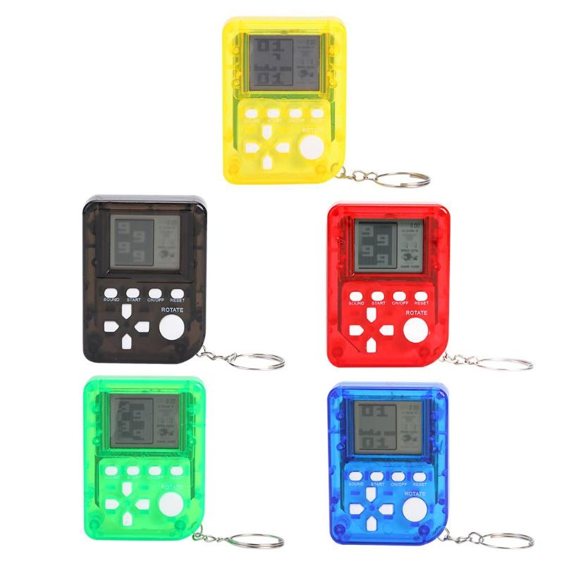 Portable Retro Mini Classic LCD Tetris Game Console Keychain Machine Children's Handheld Nostalgic Game Console Kids Gift Toy