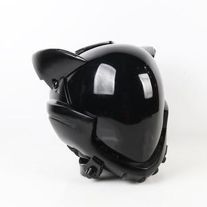 Image 3 - ¡En Stock! Casco acrílico EVA para Cosplay, casco Ayanami Rei Mari Makinami, máscara ilustre