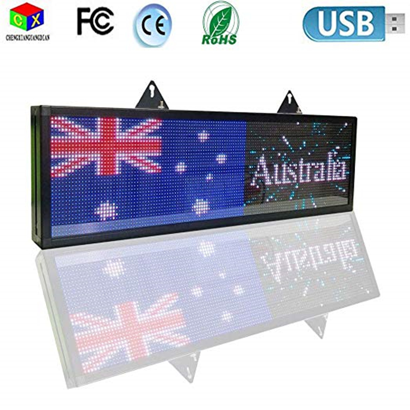 Free Shipping RGB Full Color P5 Indoor LED Message Sign Moving Scrolling Led Display Board For Shop Windows