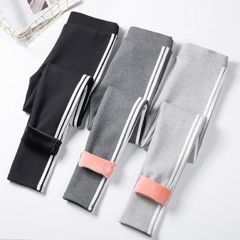 SVOKOR Winter Plus Velvet Pants For Women High Waist Thick Leggings Keep Warm Clothes New - discount item  50% OFF Leggings