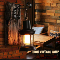 Vintage Industrial Wall Light LED Wall Lamp Antique Outdoor Restaurant Corridor Loft Wall Mounted Sconce Lamp Home Decoration
