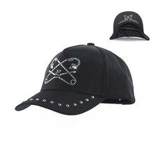 Paperclip Design Bling Hats Studded Baseball Cap Hat Adjustable Baseball Cap Golf Denim Sun Hat