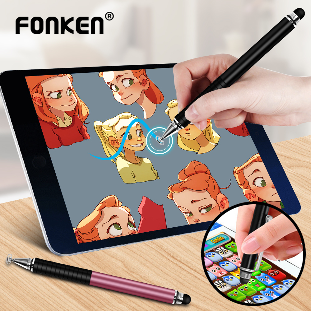 Universal 2 In 1 Stylus Pen Mobile Tablet Drawing Capacitive Screen Caneta Touch Pen For Smartphone Android Note 10 Smart Pens