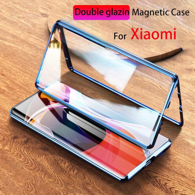 Capa de adsorção magnética de metal para xiaomi, 360, para xiaomi redmi 10x, k30, k20, note 9, 8, 7, 9s, pro, 8t capa para xiaomi 10 cc9 note 10 9t pro, 9 8