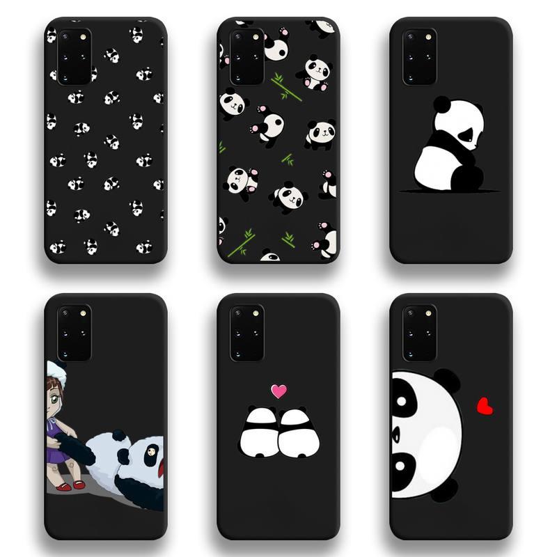 Cute Cartoon Panda Phone Case For Samsung Galaxy S21 Plus Ultra S20 FE M11 S8 S9 Plus S10 5G Lite 2020