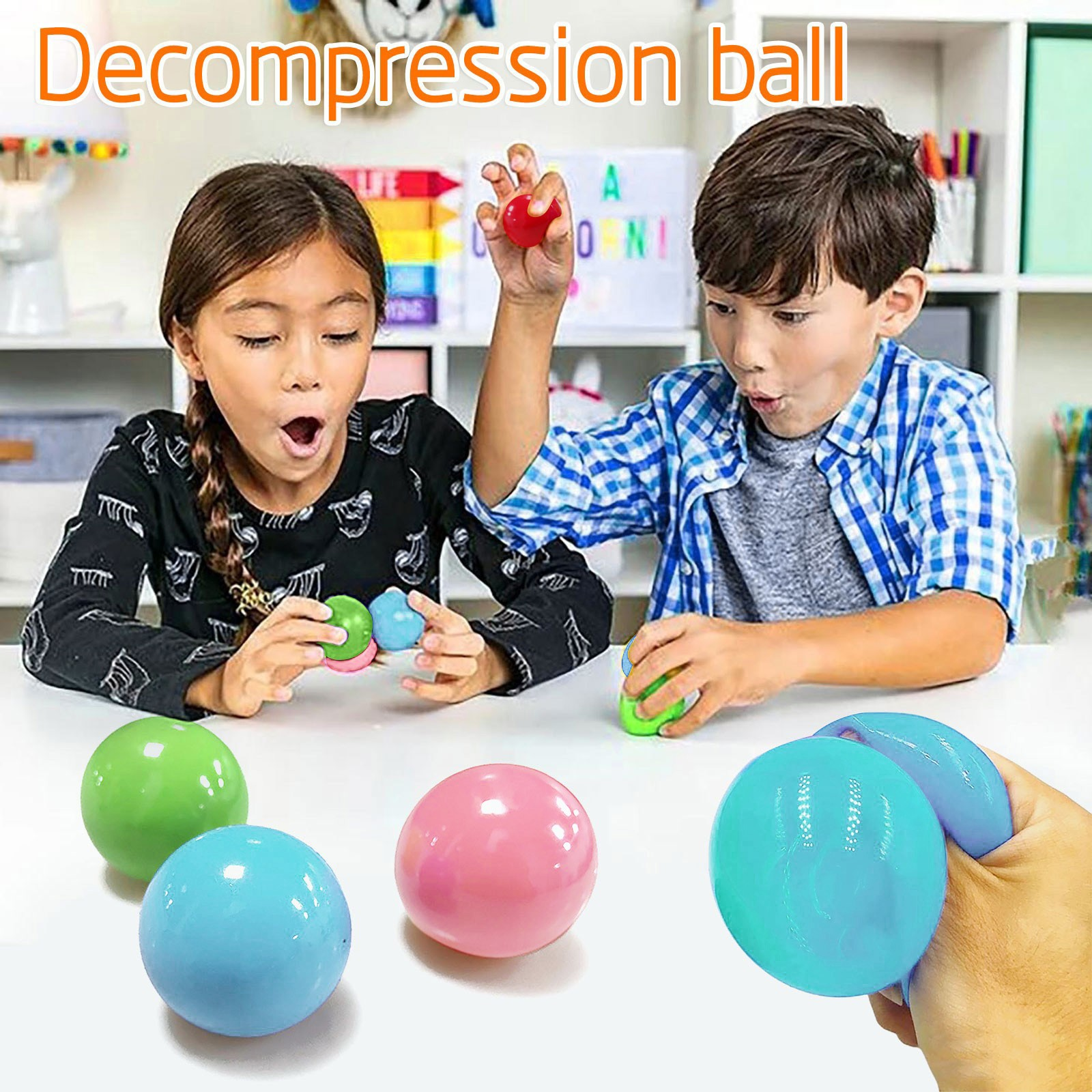 Sticky Wall Balls Luminous Stress Relief Balls Sticky Game Stress Relief Toys Decompression Toy (squeeze Toys Kids Tool Fun img2