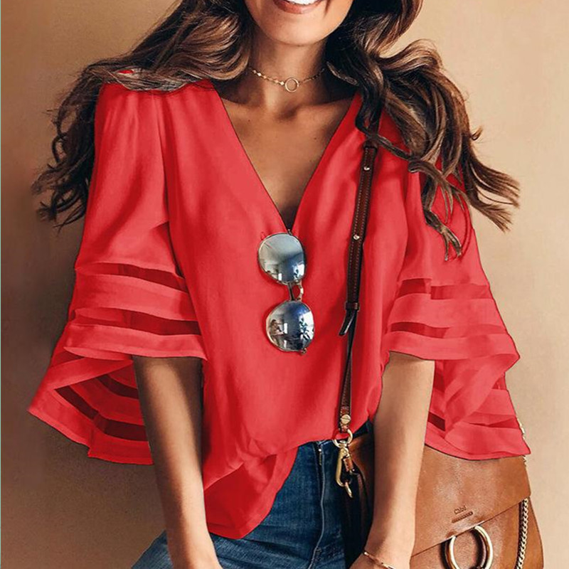 new women blouse fashion 2020 female womens elegance retro style  fashion 2020 festivals sexy top shirt ladies clothing top xxl