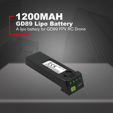 цена на 3.7V 1200mah Lipo Battery Replace Rechargeable Batteries For GD89 FPV RC Drone Spare Parts Accessories