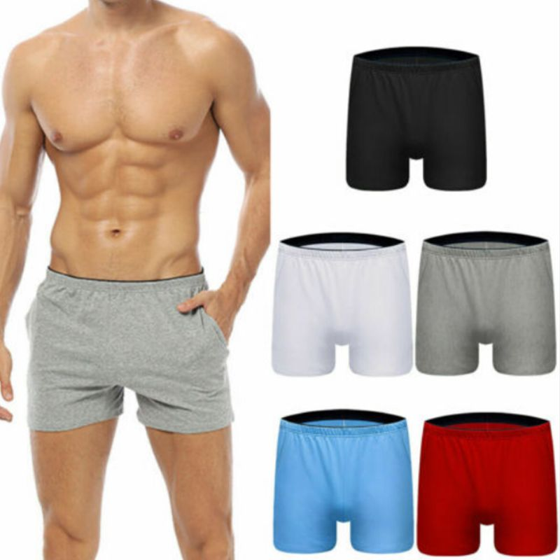 Fashion Breathable Casual Men Shorts Cotton Gym Sports Running Sleep Short Pants