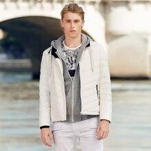 BOSIDENG Mens Down Jacket Short Lightweight Packable Standing Collar Down Coat for Early Winter B70132013