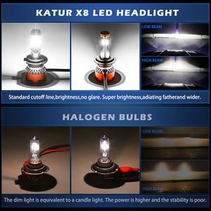 Image 5 - Katur 12000Lm توربو مصباح ليد لمبات للسيارات H8 H11 LED H4 9005 9006 HB4 HB3 H7 9012 HIR2 مصابيح 12V CPS الصمام العلوي H7 LED
