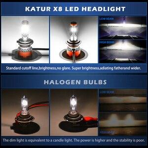 Image 5 - Katur 12000lm turbo lâmpadas led para carros h8 h11 led h4 9005 9006 hb4 hb3 h7 9012 hir2 lâmpadas 12v cps led farol h7 led