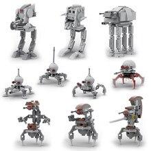 Yeni Droideka Destroyer droidleri cüce örümcek mühürlü Imperial klon At-at-dp yürüteç Mini yapı taşı çocuk oyuncak