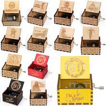 Деревянная музыкальная шкатулка, вечерние, подарок, Властелин колец, гравировка, Деревянная Музыкальная Коробка, рождественский подарок