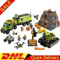 LP 02005 City Kits Volcano Exploration Base Set Children Educational Building Blocks Brick lepinings Toys Model Clone 60124
