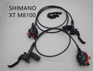 Image 1 - SHIMANO XT M8100 dźwignie hamulca tarczowego z lewym i prawym MTB ice tech olej hydrauliczny zacisk hamulcowy