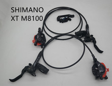 SHIMANO XT M8100  disc brake levers with left and right MTB ICE TECH hydraulic oil brake caliper