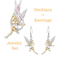 Fashion Crystal Fairy Jewelry Sets for Women Girls Necklace Earrings Statement Wedding Jewelry Gifts Dropshipping цена 2017