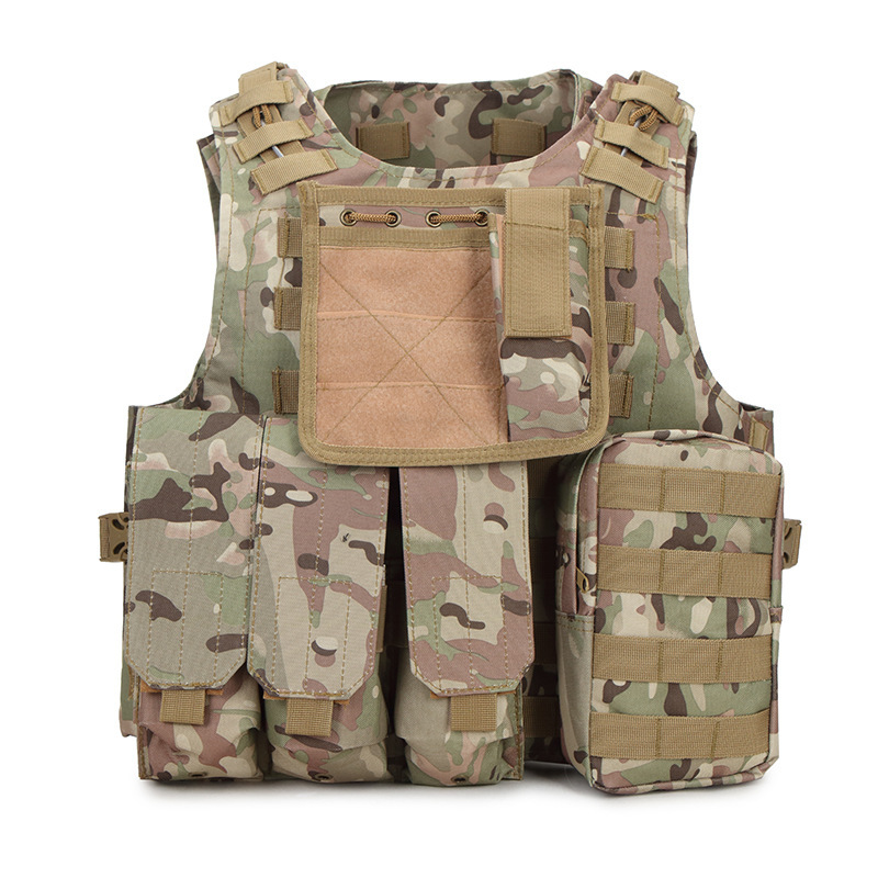 Hot Selling Tactical Vest Waistcoat Outdoor Multi-functional Tactical Equipment Army Fans CS Amphibious Camouflage Vest
