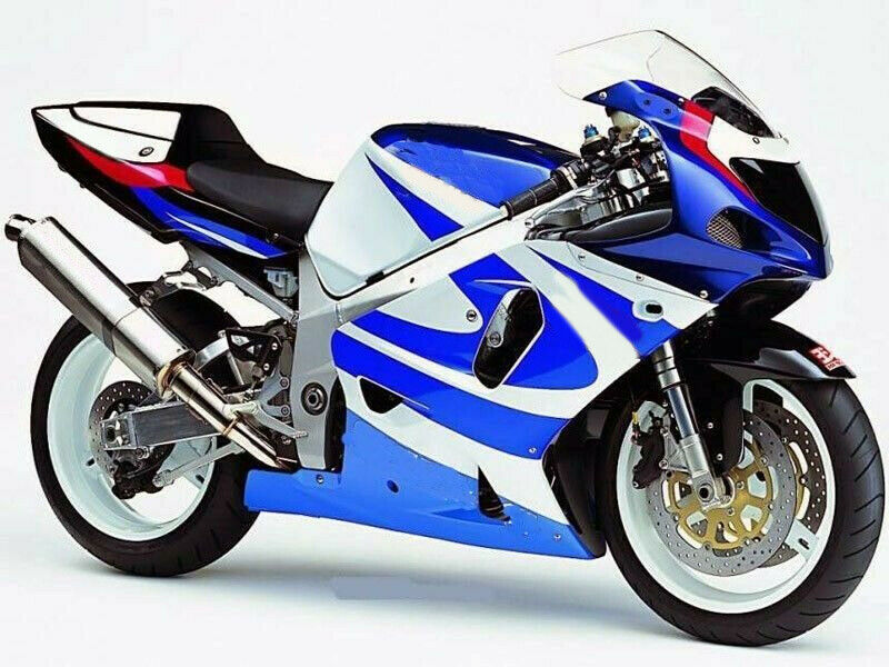 Black White Blue Complete Injection Fairing for <font><b>Suzuki</b></font> <font><b>GSXR</b></font> <font><b>1000</b></font> 2000 - <font><b>2002</b></font> GS-XR GSX-R <font><b>1000</b></font> 2001 image