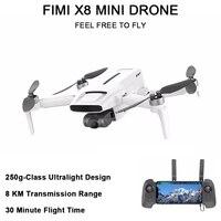FIMI-Mini Dron profesional X8 con cámara, 250g-class, 8KM de alcance de transmisión, 30 minutos de tiempo de vuelo, 4k