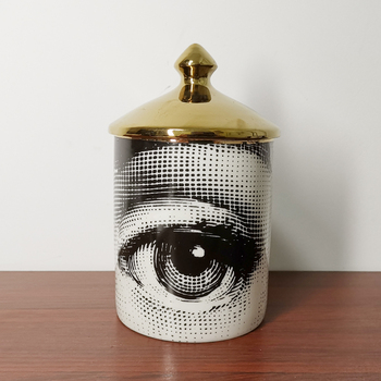 Lady Face Candle Holder Human Face Jar Candelabra Retro Storage Bin Ceramic Cafts Home Decoration Jewerlly Storage Box 9