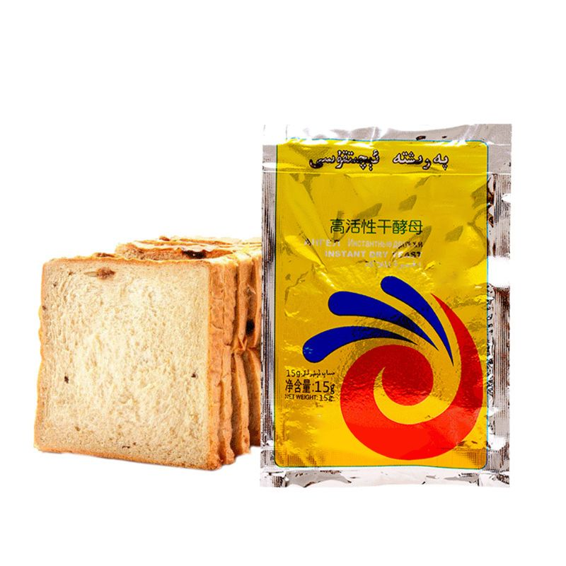 15g Highly Active Instant Dry Yeast Powder High Glucose Tolerance Kitchen Buns Bread Baking Supplies
