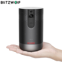 BlitzWolf BW VP4 Full HD 3D Portable DLP Mini Projector Android 7.1 4K Resolution Active Wireless Video Home Theater With WiFi