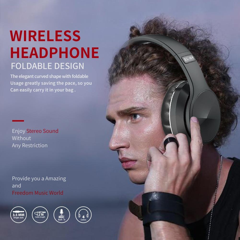 Draadloze Wired Bluetooth Hoofdtelefoon Met Microfoon Ondersteuning Geheugenkaart Hifi Stereo Gaming Sport Headset Voor Ios/Android Pc 6