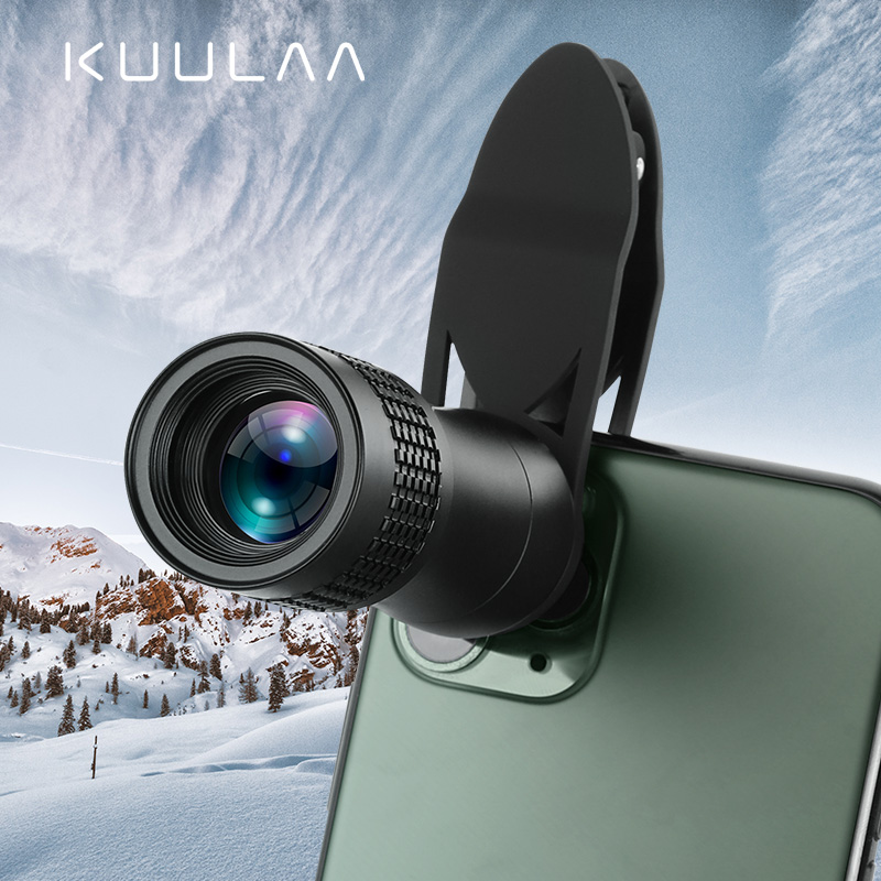 KUULAA universel 14X monoculaire Zoom HD optique lentille de téléphone portable observation téléobjectif pour iPhone 11 Pro Smartphone