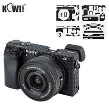 Anti Scratch Camera Body Skin Cover for Sony A6100 A6400 A6300 + SELP1650 16 50mm Lens Protector 3M Sticker Carbon Fiber Film